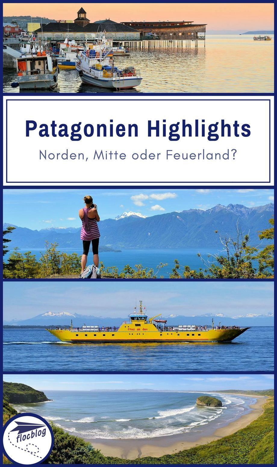 Patagonien Highlights Karte.Patagonien Highlights Norden Mitte Oder Feuerland Karte