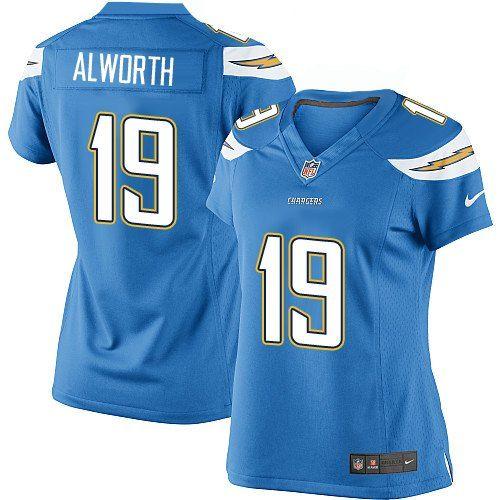 nike elite lance alworth electric blue women s jersey los angeles rh pinterest com
