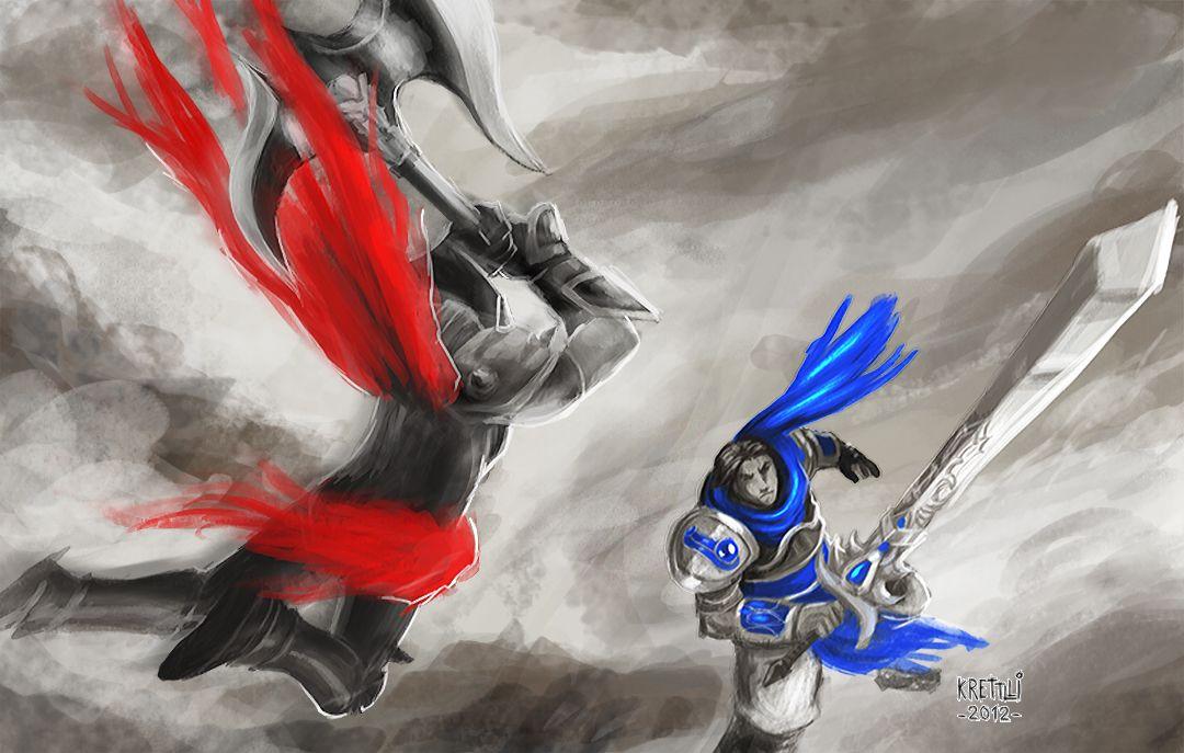 League Legends Garen Vs Darius