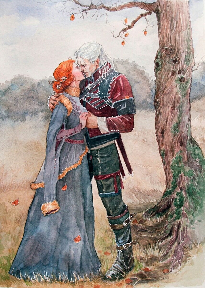 Triss and Geralt | Art in 2019 | The witcher, The witcher
