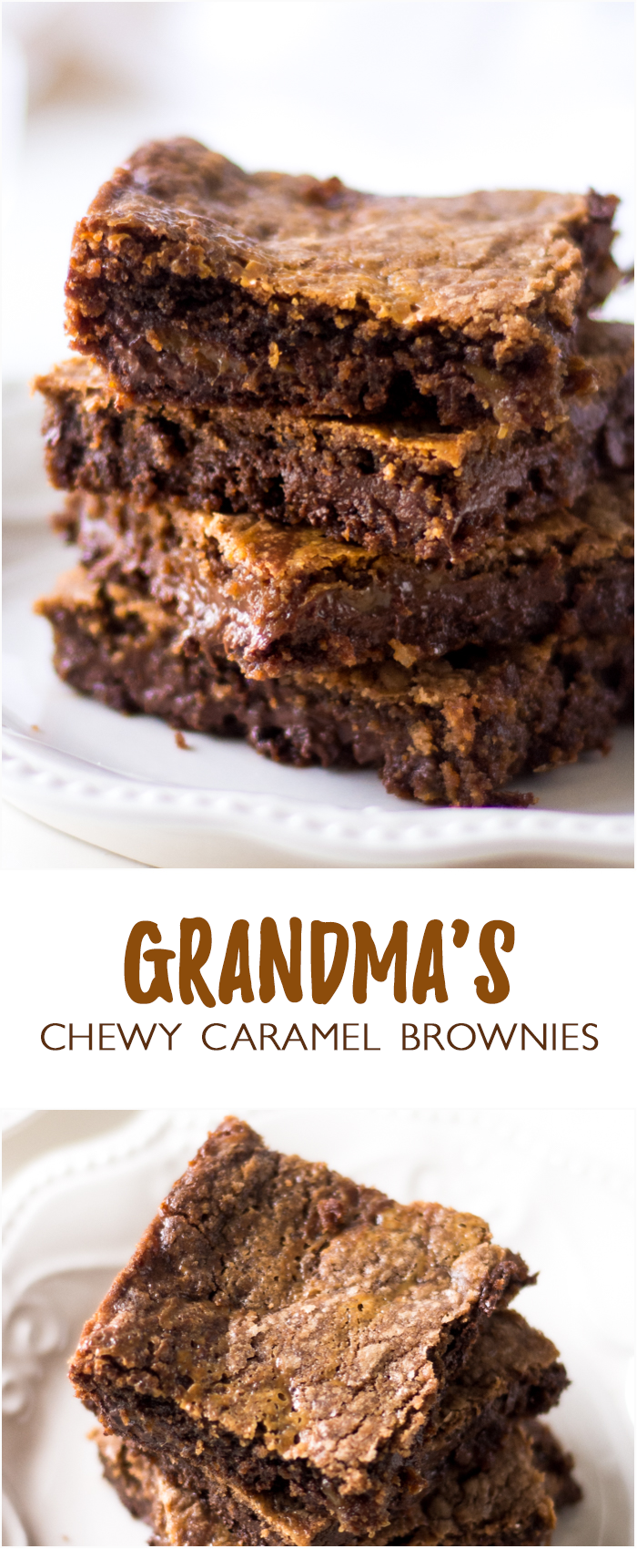 Grandma's Chewy Caramel Brownies | Recipe | Chocolate cake mixes ...