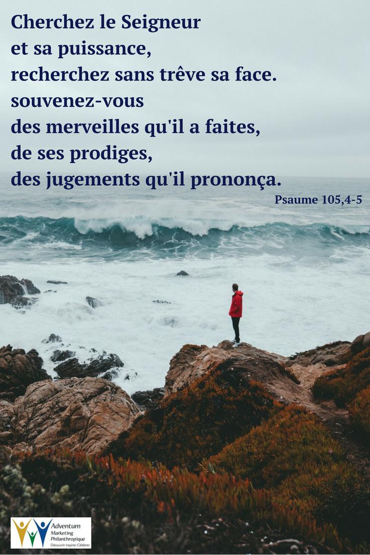 22 mars 2018 – Psaume 105,4-5 | Texte biblique, Psaumes, Parole biblique