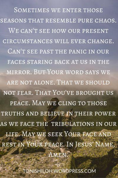 Prayerful Wednesday – Peace in Chaos | Prayers | Prayer for peace