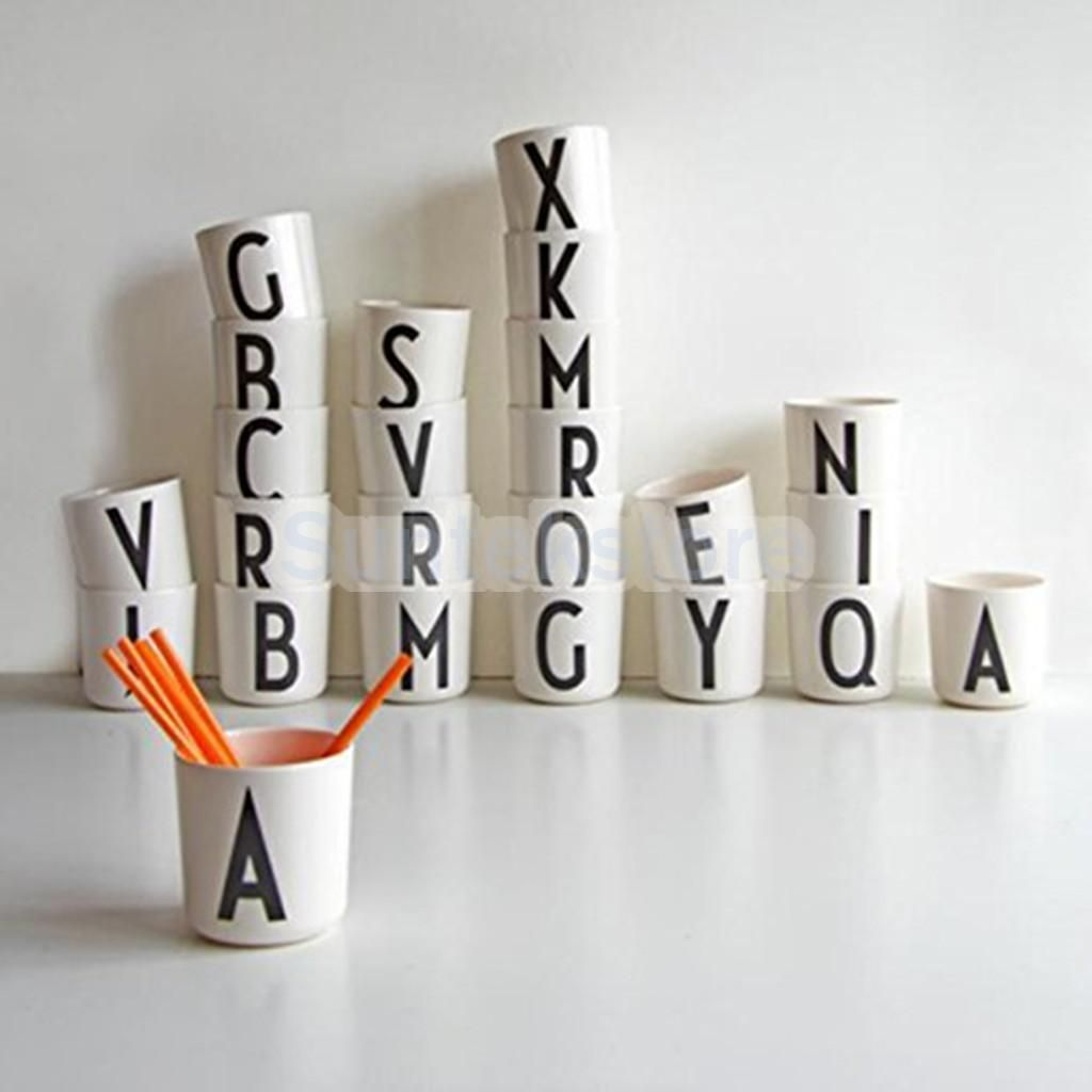 Diy Decorative Letters Design Mug Tea Cup Juice Drinks Mark Cup Couple Family