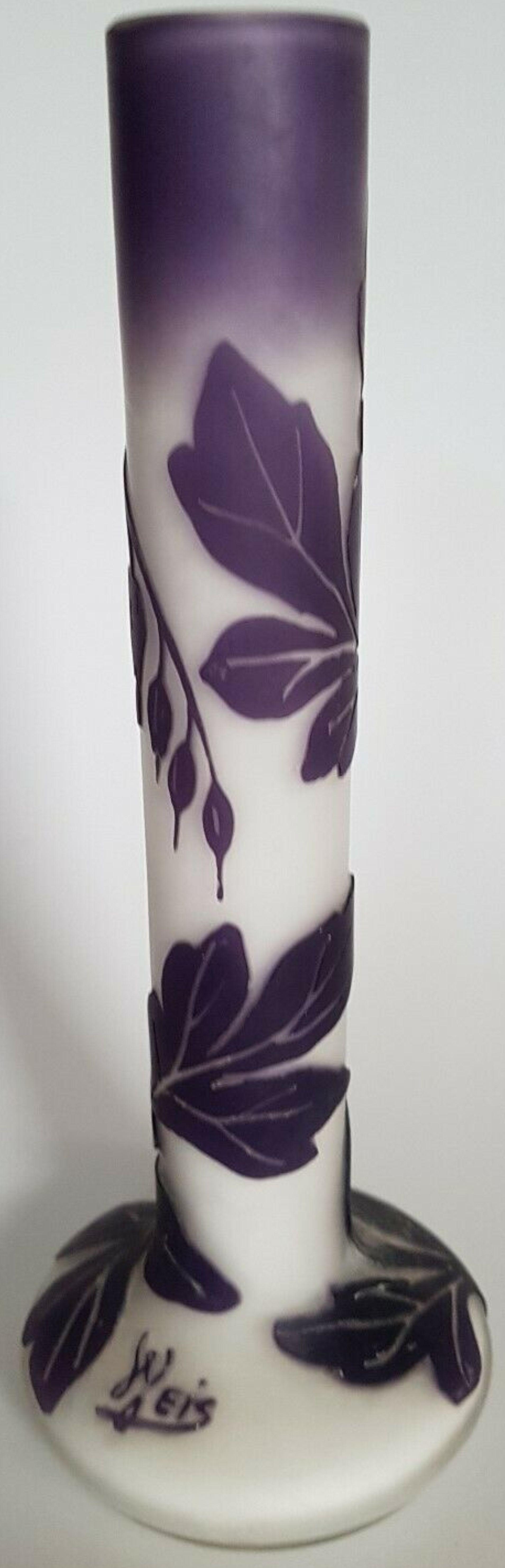 Beckmann Und Weis Mügeln Bei Dresden Jugendstil Glas Vase Ca 1918 1920 Höhe Ca 20 Cm Oberer Durchmesser Ca 3 Cm Durchmesser Fuß Ca 7 5