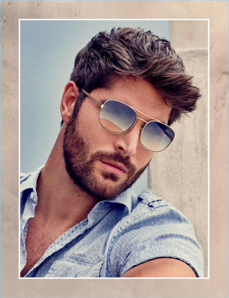 Nick Bateman Fronts Guess Spring '18 Accessories Campaign #hairandbeardstyles