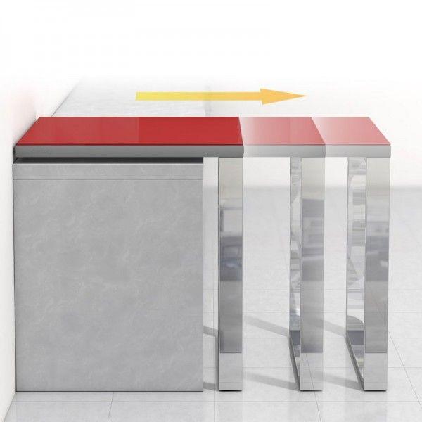 Table de cuisine d\u0027appoint en verre - fixation plan de travail