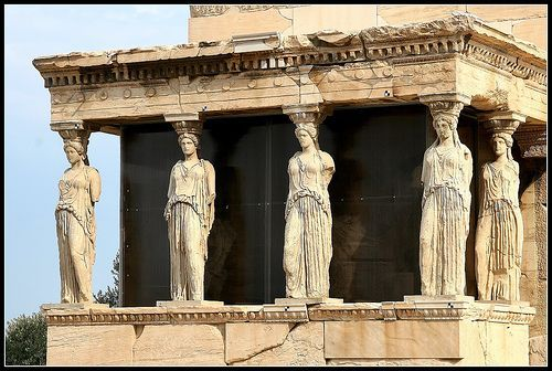 Temples in Greece were built to honor the gods.  Usually, priests and priestess were the only one allowed inside the temple while the commoners celebrate the gods outside of it.