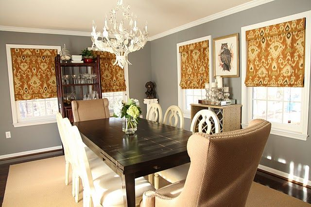 Room Behr Anonymous Dark Gray Dining