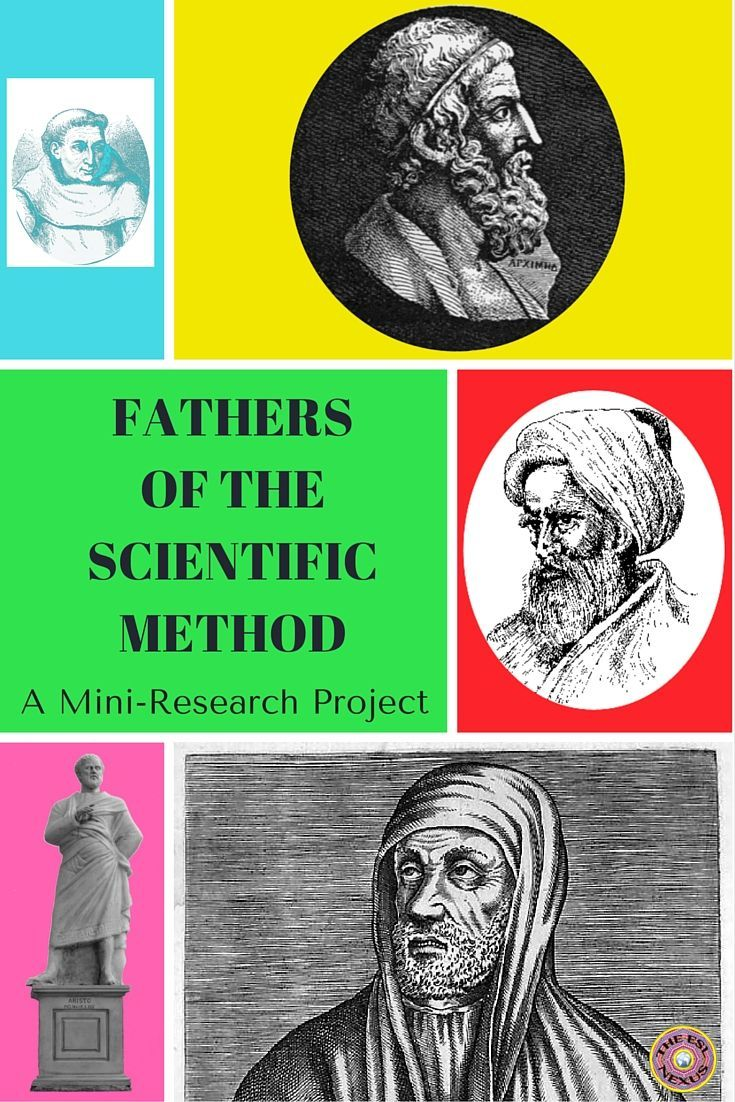 Fathers Of The Scientific Method Research Project  Scientific