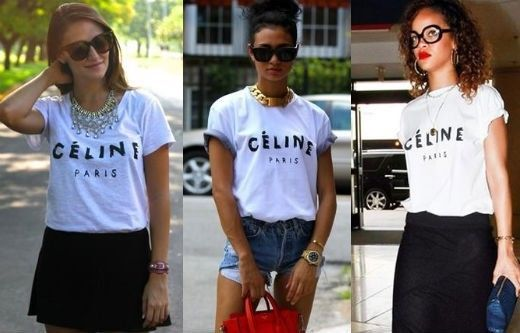 c4b63810269 Celine Paris White Womens T-Shirt Shirt Sexy Rihanna Top Tour Girl ...
