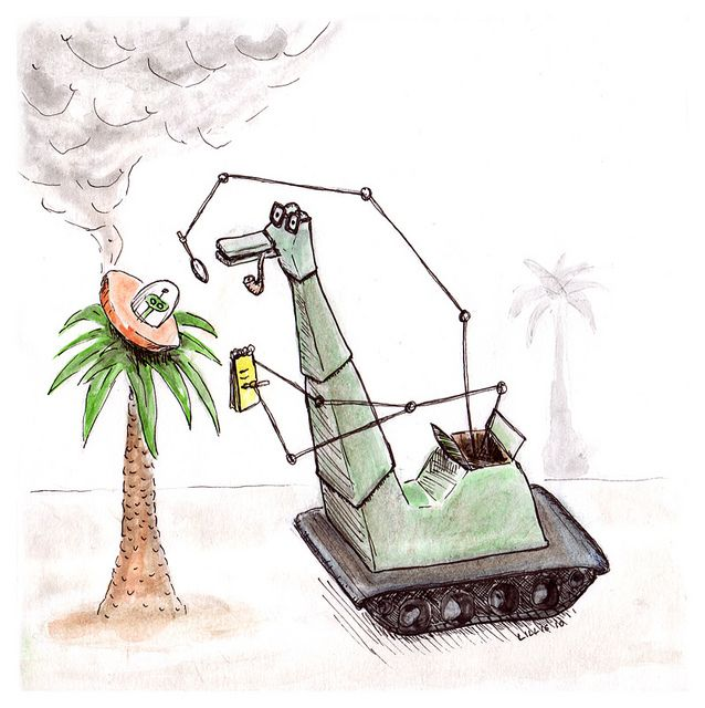 Robots and Monsters - DinkDink by narwhalbot, via Flickr
