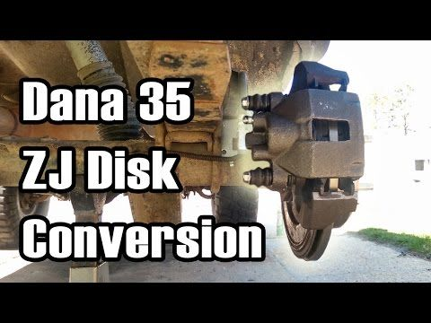 89 Cherokee Dana 35 Rear Disk Brake Conversion Youtube Jeep Xj