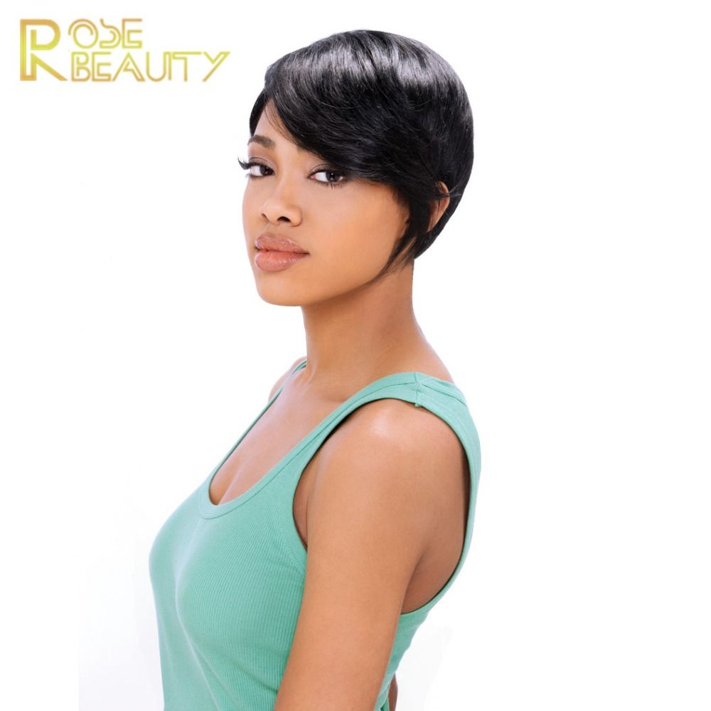 Newest celebrity pelucas short straight synthetic wigs Brown/black Pixie wig for women cheap Glamorous full wig free shipping  //Price: $US $15.65 & FREE Shipping //     #fashion #women #wig #wigs #hair #blond #darkhair #beauty #style