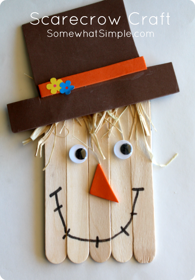 Scarecrow craft scarecrow crafts scarecrows and cheap art for Easy halloween crafts to make and sell