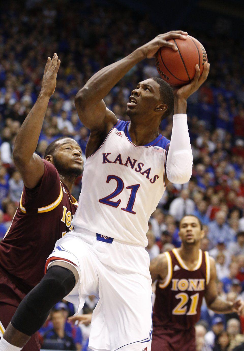 2014 Joel Embiid Kansas Kansas jayhawks basketball
