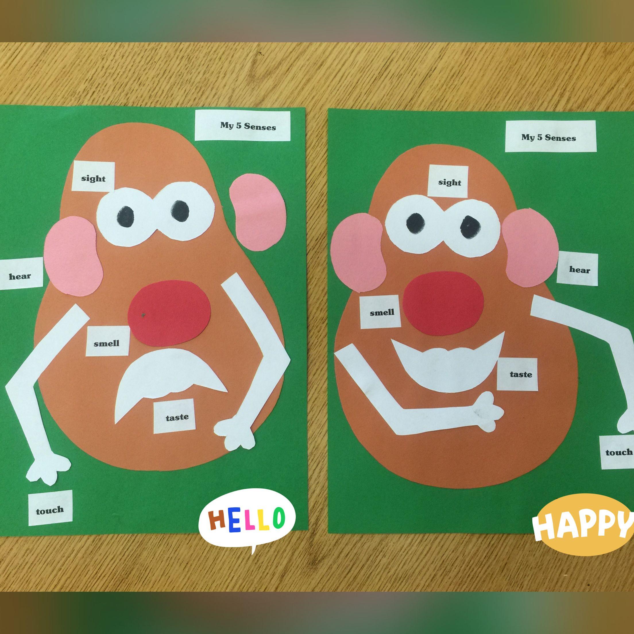 Mr potato head 5 senses activity preschool or for Art and craft games