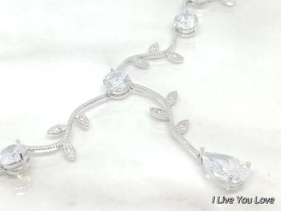 White Gold Bridal Hair Chain-Silver Hair Jewelry-Silver Hair Accessories-Silver Bridal Headpiece-Bridal Hair Drape-Wedding Hair-Silver Leaf #hairchains