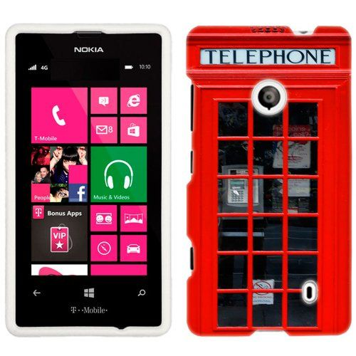 Nokia Lumia 521 Red British Phone Booth Phone Case Cover