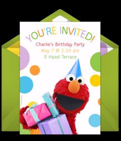 Online Invitations from Sesame street invitations Elmo birthday