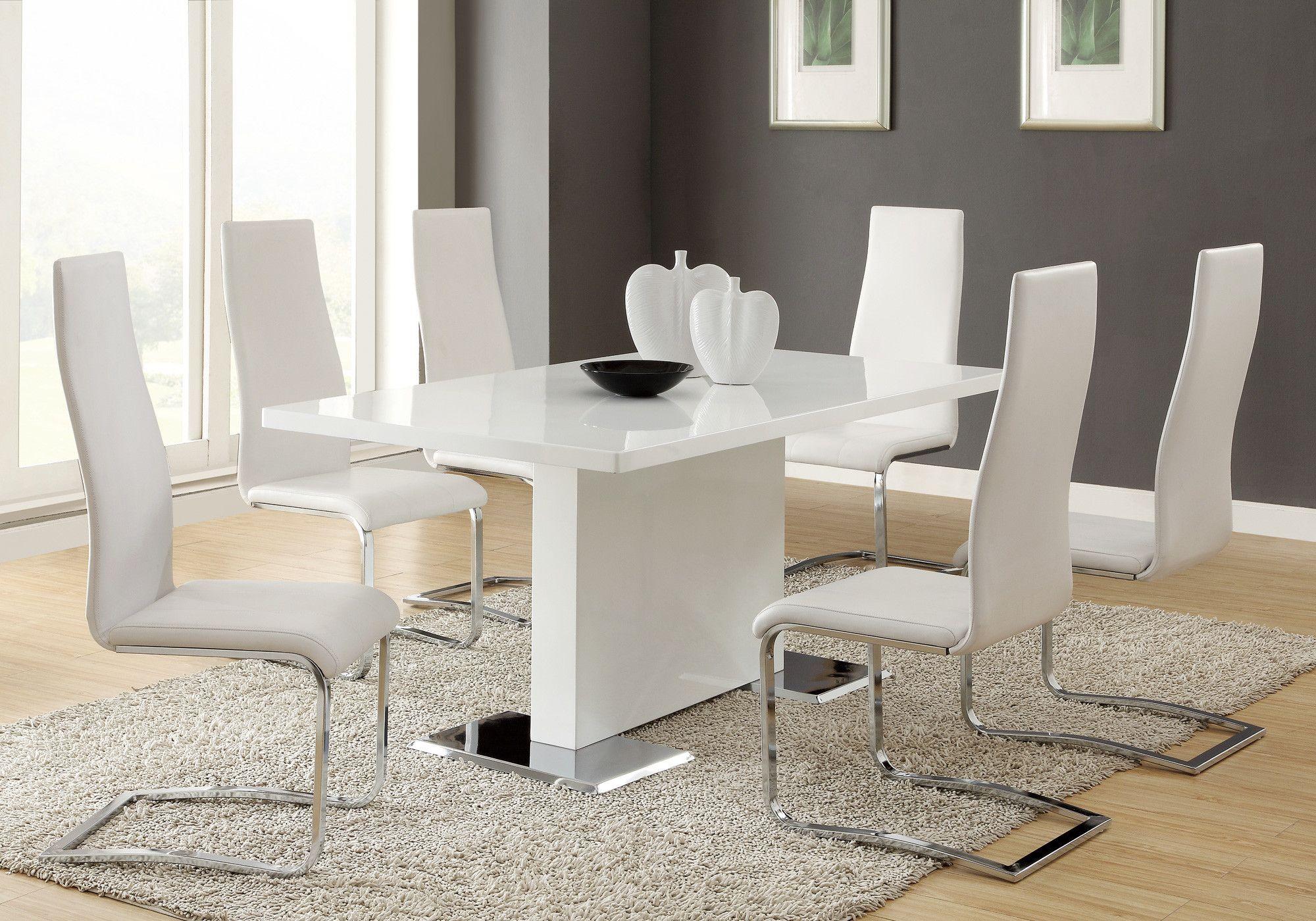Wildon Home 9 Piece Dining Set Wayfair 1 Table 8 Chairs 1305 33 Modern Dining Room Set Modern Dining Table Set Contemporary Dining Room Sets
