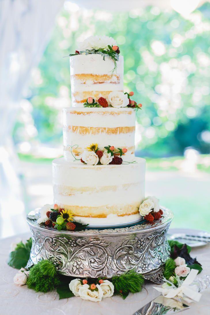 Three-Tier Naked Cake | Wedding Cakes | Pinterest | Cake, Wedding ...