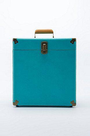 Crosley - Caisse de transport turquoise foncé pour disques 12 po.