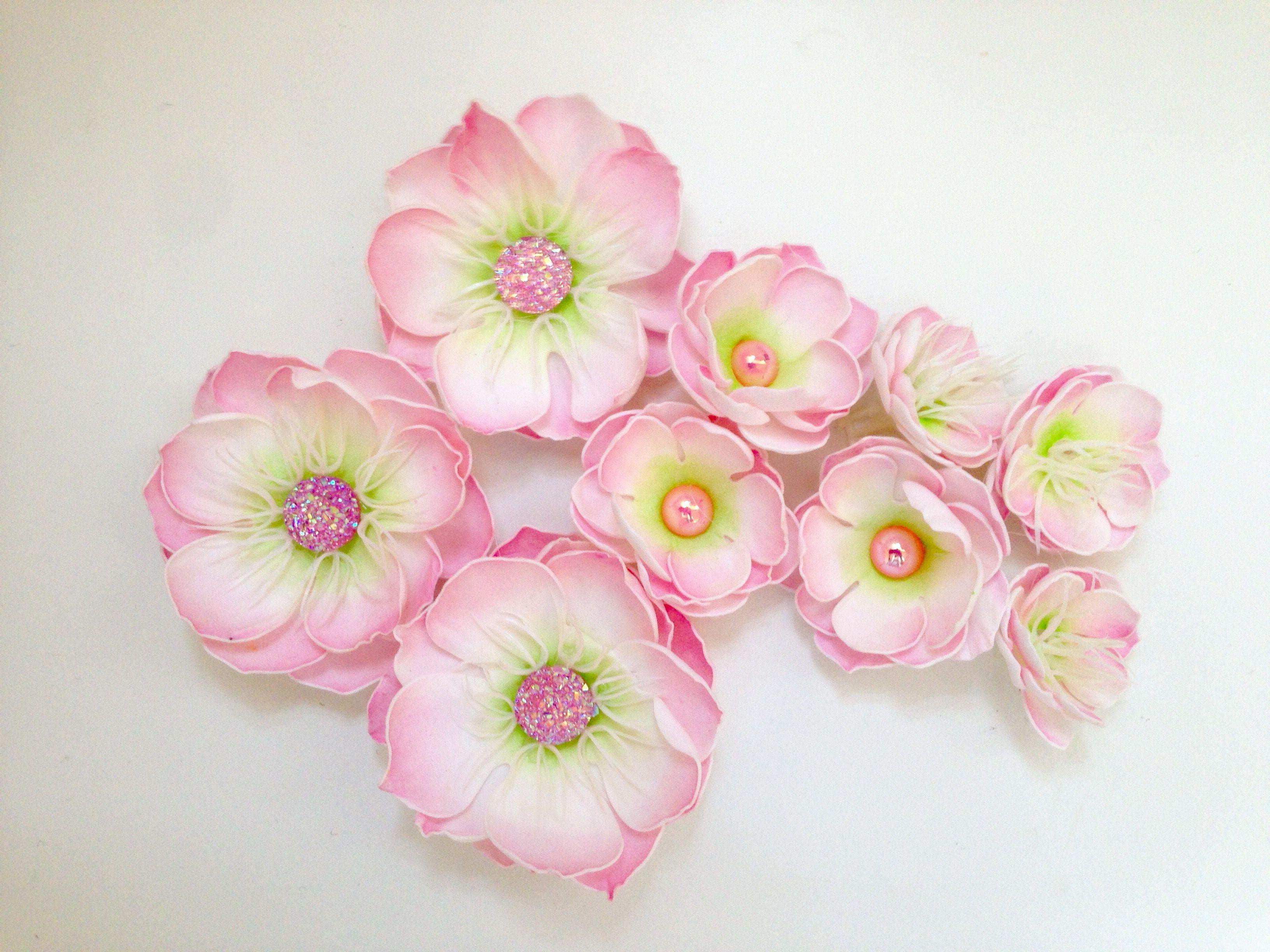 Handmade foamiran flowers