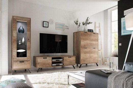 LC Wohnwand (3-tlg) Palma 7Roomz - Einrichtungsideen Pinterest - designer mobel materialmix