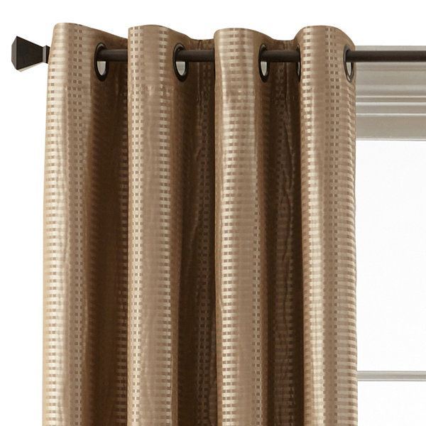 Studio Beck Grommet Top Blackout Curtain Panel Jcpenney Check