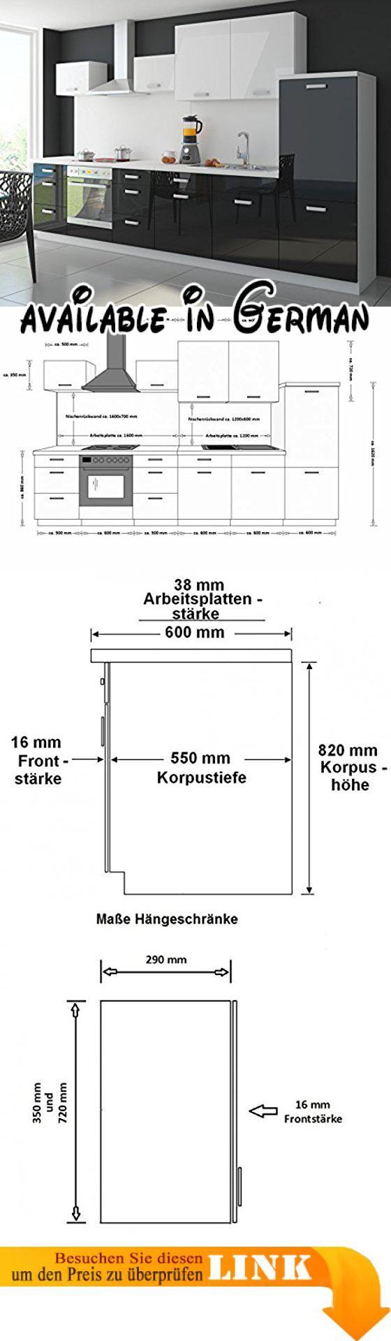 Maße Küchenblock b014ub9vp4 küche color 340cm küchenzeile küchenblock einbauküche