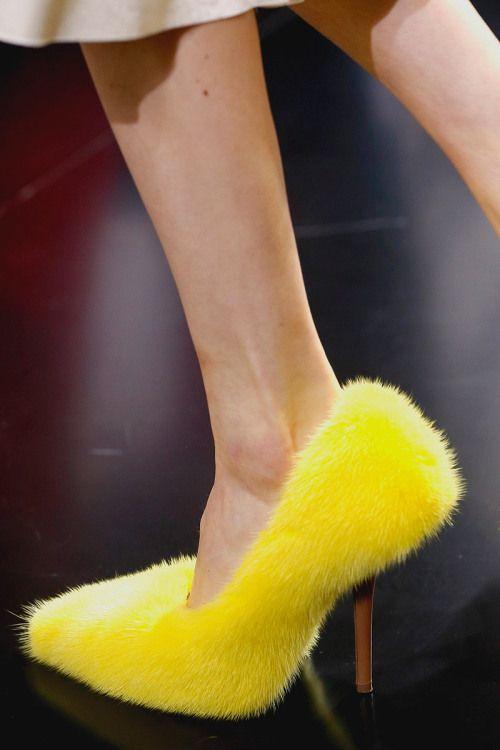 Fur shoes | Celine shoes, Crazy shoes