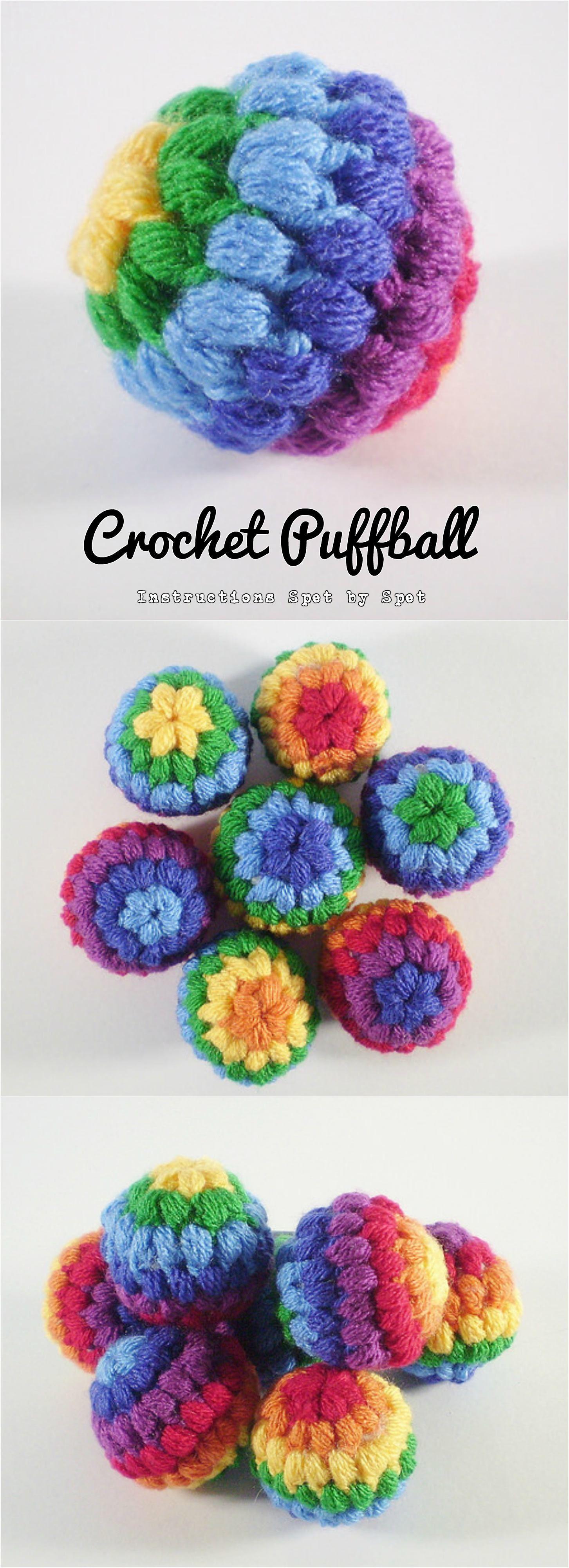 Crochet Puffball | Häkeln, Stricken und Stricken häkeln