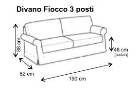Dimensioni Divano Fiocco 3 posti fissi | Idee per la casa | Pinterest