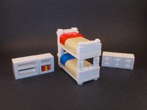 Kids Bedroom Set w/ Bunk Bed, Dresser Shelving Price : $19.00 http ...