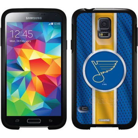 St. Louis Blues Jersey Stripe Design on OtterBox Symmetry Series Case for Samsung Galaxy S5