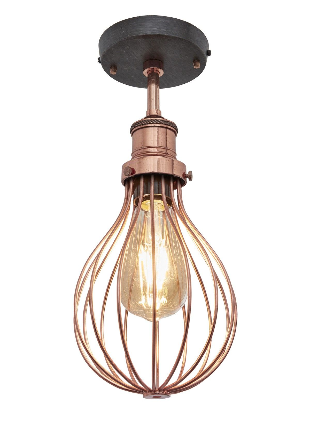 Our stylish industrial orlando vintage balloon cage flush mount orlando vintage balloon cage flush mount light in copper by industville arubaitofo Choice Image