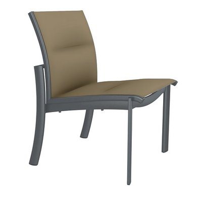 Tropitone Kor Patio Dining Chair Frame Color Woodland Seat Color