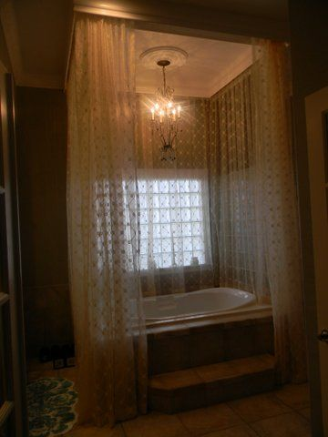 Garden Tub Surrounded By Sheer Drapes So Romantic Home Decor