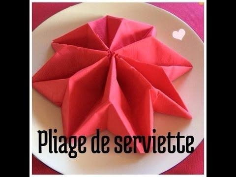 Plier Une Serviette En Poinsettia Origami Fold Napkins Youtube Pliage Serviette Pliage Serviette Facile Pliage Serviette Noel