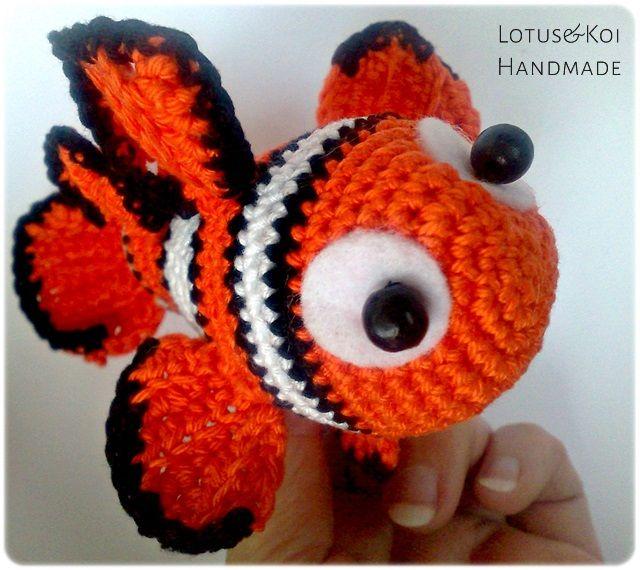 PATRON DORY (BUSCANDO A NEMO) AMIGURUMI 3508 | Crochet fish ... | 570x640