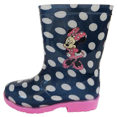 Disney Baby Girls Blue White Polka Dot Minnie Mouse Rain Boots Babies R Us Babies R Us Toddler Boy Shoes Toddler Shoes Boots