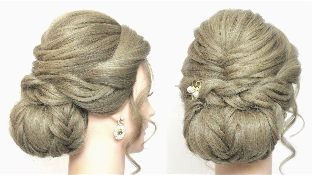 new low bun hairstyle for girls. prom, party updo tutorial