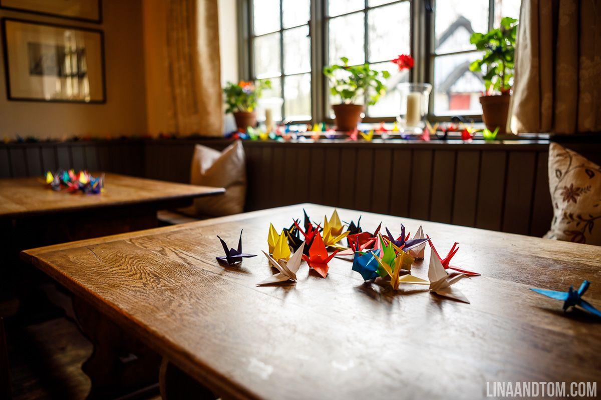 Wedding decor ideas simple  Simple wedding decor  DIY origami cranes  Wedding décor and table