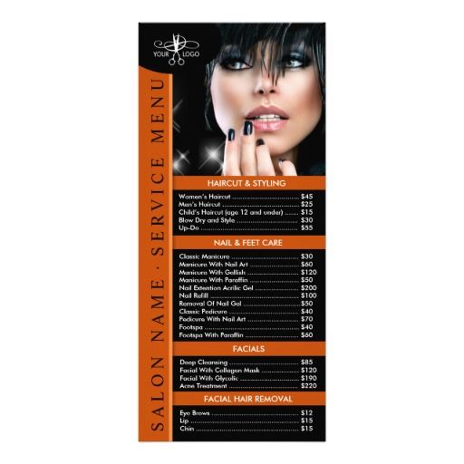 Hair nail beauty salon price list service menu papeleria hair nail beauty salon price list service menu template maxwellsz
