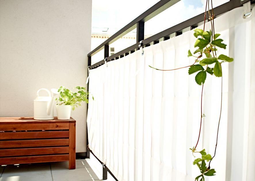 Sichtschutz Für Den Balkon: Günstig Verstecken: Balkonbespannung ... Sichtschutz Mit Balkonbespannung 23 Coole Ideen