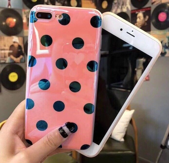 Glossy Shine Cool Big Dots Fashion Case For iPhone 8 Plus ...