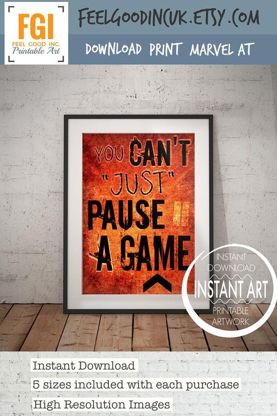 Gamer Bedroom Decor You Can T Just Pause A Game Video Game Poster