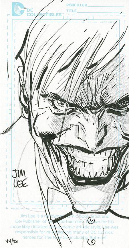 The Joker By Jim Lee Dibujos De Heroes Arte De Comics Guason Dibujo