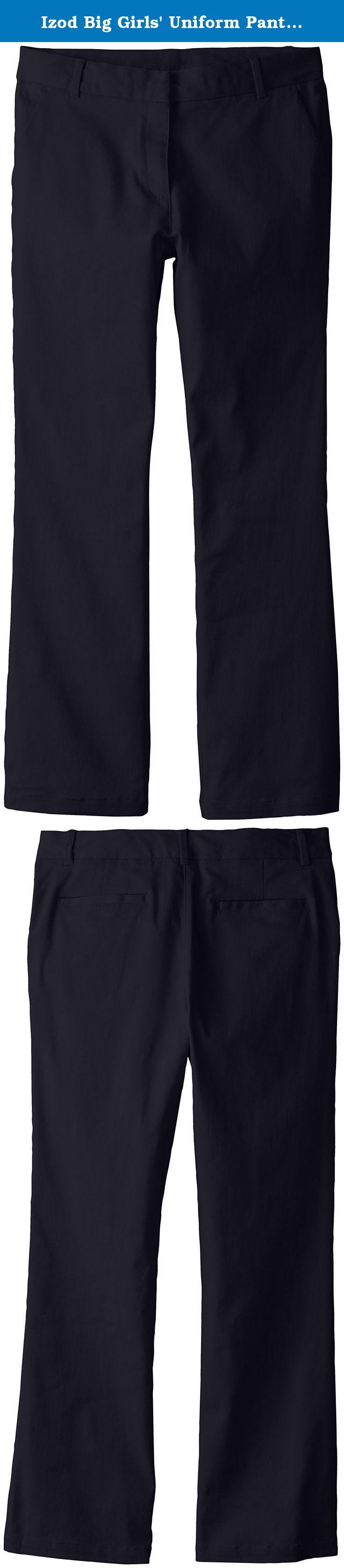 Izod Big Girls Uniform Pant Plus Size Navy 145 Izod Uniform